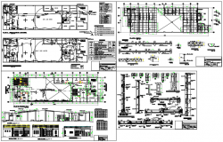 Electric plan and elevation detail working plan detail dwg file