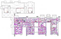 Electric plan layout Of Commercial Building AutoCAD File