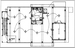 Electric plan layout and design plan layout view detail dwg file