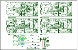 Electric plan layout detail view dwg file