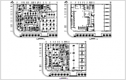 Electric plan layout view of bank building in detail dwg file