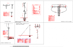 Electric prone sectional detail cad drawing