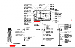 Electric tower with three leg view and cabin dwg file