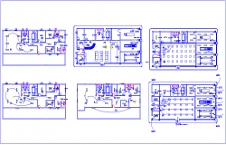 Electric view of building with light and power view dwg file