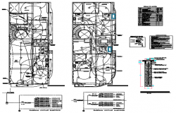 Electrical Apartment building plan detail dwg file