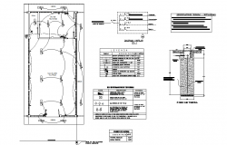 Electrical Center line plan detail dwg file