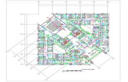 Electrical Floor Plan Of Commercial Building AutoCAD File