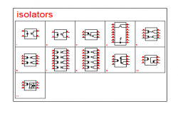 Electrical Isolators block design drawing