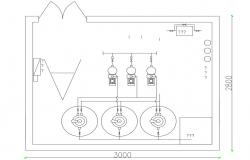 Electrical Room Design AutoCAD Drawing Plan