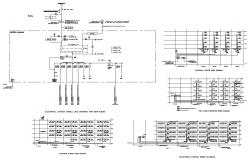 Electrical System in building CAD file download