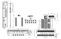 Electrical board installation detail elevation 2d view dwg file