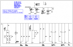 Electrical circuit diagram detail view dwg file