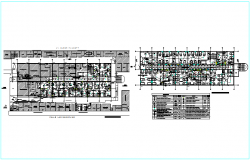 Electrical communication line design view for hospital dwg file