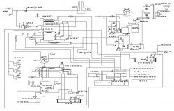 Electrical current flow diagram detail CAD block layout file in autocad format