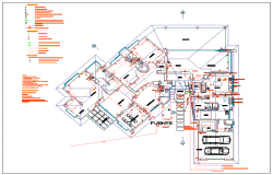 Electrical detail for family housing plan