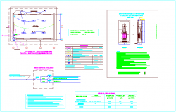 Electrical diagram view with legend and switch board view for classroom dwg file