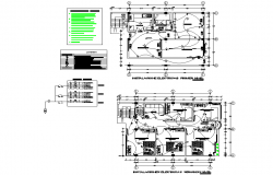 Electrical family house plan autocad file