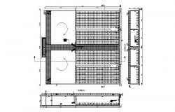 Electrical fence section and installation cad drawing details dwg file