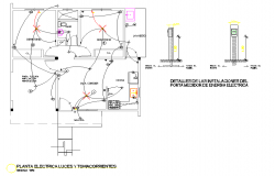 Electrical house plan detail layout file