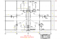 Electrical house planning layout file