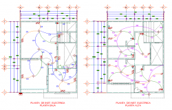 Electrical house room facilities plan layout file