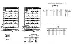 Electrical installation Cafe building plan and section layout autocad format
