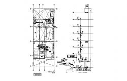 Electrical installation and diagram details for apartment flats dwg file