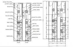 Electrical installation details of toilet with plan dwg file