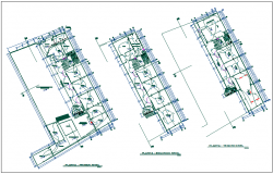 Electrical installation floor plan of collage dwg file