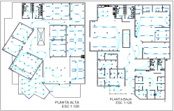 Electrical installation floor plan of school dwg file