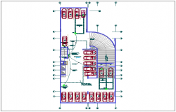 Electrical installation plan in basement dwg file