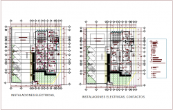 Electrical installation plan of  rural clinic dwg file