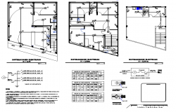 Electrical installation plan of cafe area dwg file