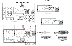 Electrical installation plan of camp shop dwg file
