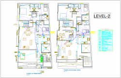 Electrical installation plan of house for second level dwg file