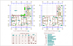 Electrical installation plan of municipal agency dwg file