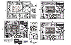 Electrical installation plan of office dwg file