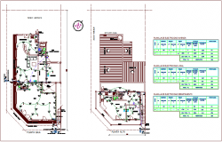 Electrical installation plan of residence area dwg file