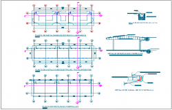 Electrical installation plan of school classroom dwg file