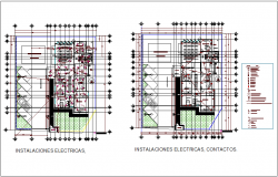 Electrical installation with its legend for clinic dwg file