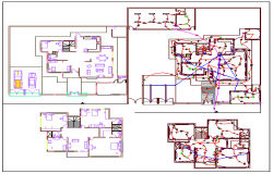 Electrical installations of single family house design drawing