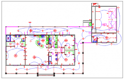 Electrical lay-out for house drawing