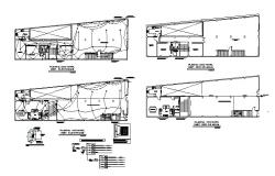 Electrical layout and floor plan details of housing building dwg file