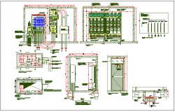 Electrical layout detail dwg file