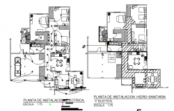 Electrical layout details with plan