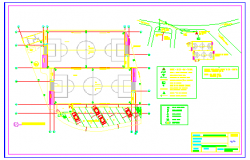 Electrical layout of Football field design drawing