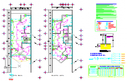 Electrical layout of House design drawing