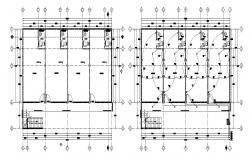 Electrical layout of a retail store in dwg file