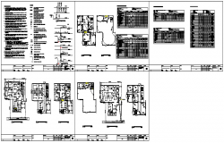 Electrical layout of office project design drawing