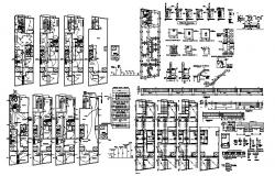 Electrical layout of residential house in dwg file